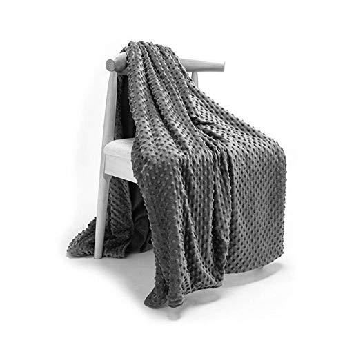 Esplic Bettbezug für gewichtete Decken - weiches, atmungsaktives, warmes Polyestergewebe-Bettbezug - Grau 152 x 203 cm
