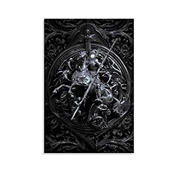 VGJK Archangel Samael Tattoo Canvas Art Poster and Wall Art Picture Print Modern Family Bedroom Decor Posters 20x30inch 50x75cm