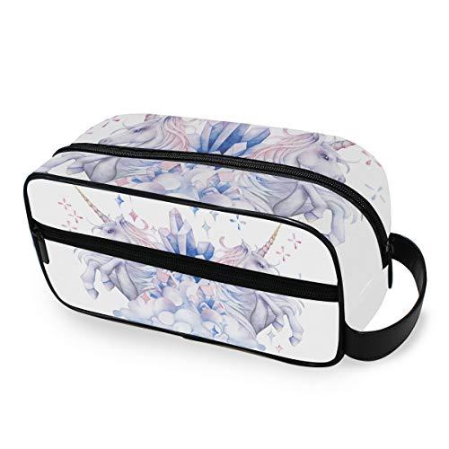 Trousse de toilette Portable Storage Travel Makeup Bag Mythology Unicorn Beauty Tools Cosmetic Train Case