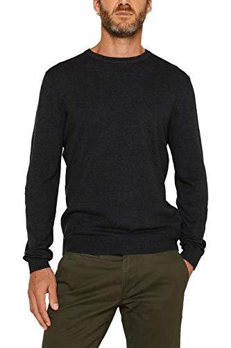 ESPRIT Herren 996EE2I900 Pullover, Anthracite (010), 01/19, L