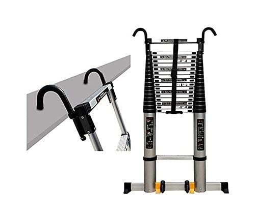 Step Ladder 2-6m Extension Tall Scaletta con ganci e tappetino antiscivolo Professionale per la scala telescopica per la scala per la scala per esterni 150kg, 8m   26ft