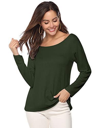 Damen Langarmshirts T-Shirt Lose Bluse Hemd Pullover Oversize Sweatshirt Oberteil Pulli Tops