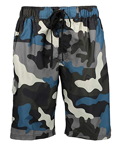 Kanu Surf Men's Miles Swim Trunks (Regular & Extended Sizes), Surf Camo Black, X-Large