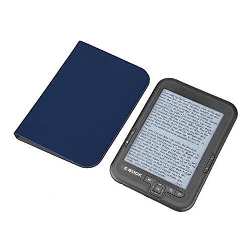Gaeirt Lettore di E-Book con Schermo da 6 Pollici, Lettore di E-Book con Risoluzione 1024 X 768 300 DPI con Custodia Pieghevole, E-Reader Portatile con Cover Blu(Grigio 16gb)