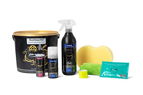 BIKE on Wax Bike Cleaning Kit, Ultimate Bicycle Care and Maintenance Set, Essential Cycling Cleaning Kit, Grease, Cleaner, Lubricant, Sponge, Wipes and Manual, Wash Degrease & Lubricate
