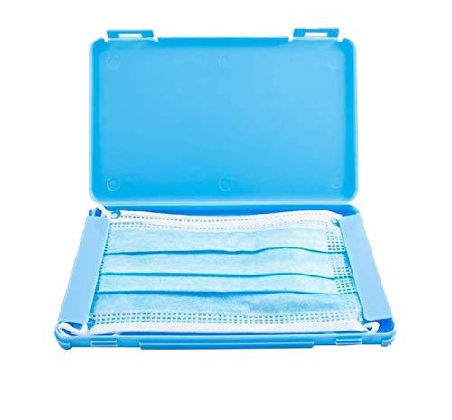 STEELMATES Custodia Porta Mascherina Chirurgica Per Adulti e Bambini (1 Pz) Scatola Porta Mascherine Chirurgiche Da Borsa/Contenitore Maschera monouso (azzurro)