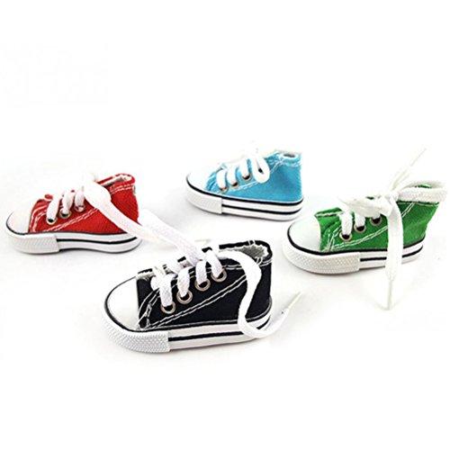 Vogelspielzeug Mini-Sneaker, für Vögel, Papageien, Haustiere, Set mit 4 Stück in zufälliger Farbe - von UEETEK