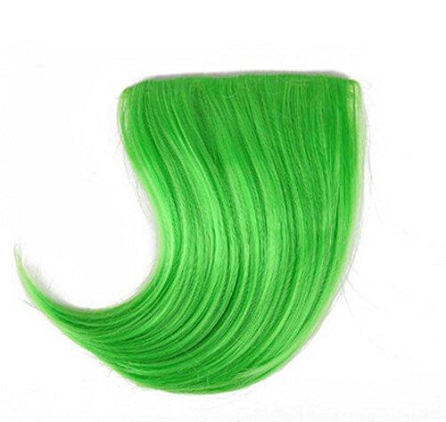 Colorful étape perruque, parti perruques, cheveux Bangs Perruques,Vert
