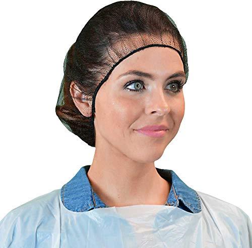 Qiansou Disposable Hair Nets Durable Nylon Caps Breathable Honeycomb 24