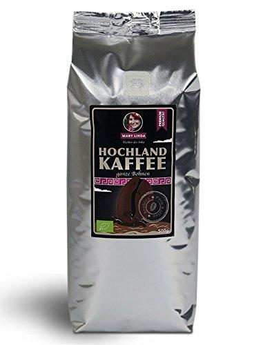 BIO Hochland Kaffee, 100% BIO ganze Arabica Edelbohnen, 500g