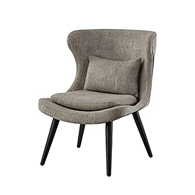 Ball & Cast Living Room Upholstered Accent Chair 25″ W x 29″D x 32.5″ H Grey Set of 1