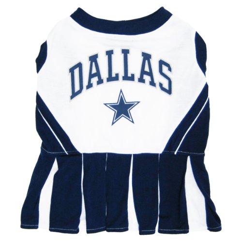 Pets First Dallas Cowboys Pet Cheerleader Uniform Extra Small