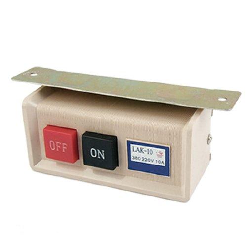 sourcing map Interruptor de botón de máquina de coser industrial ENCENDIDO/APAGADO