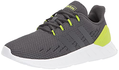adidas Questar Flow Nxt Running Shoe, Grey/Grey/Semi Solar Slime, 5 US Unisex Big Kid