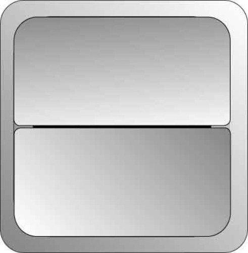 Elso 2071412 toetsoppervlak 2-voudig voor dimmer combinatie schakelaar, achaatgrijs