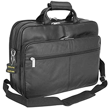 Black Professor Briefcase Soft and Attractive Leather Material Lightweight
