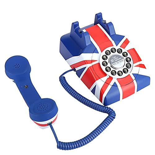 FOLOSAFENAR Teléfono Teléfono de sobremesa Reducción de Ruido Resistente y Duradera, para el hogar, para cafetería, para decoración(American Line)