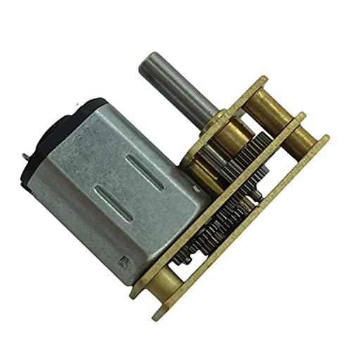 Argerrant 1 STÜCK N20 6V Mini Micro Metal Getriebe Motor mit Zahnrad DC Motoren Flip Geschwindigkeitsreduzierung 15RPM-300RPM Getriebe Reduziermotor DIY Spielzeug (Farbe : 300 RPM, Größe : DC 6V)