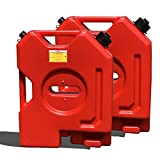 TARKII 2-Gallon Gasoline Container, Red Fuel Can for...