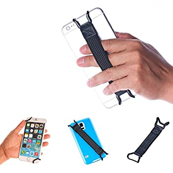 TFY Security Hand Strap Holder Compatible with iPhone Xs Max Xs XR / 8/8 Plus 6 / 6S  Plus  - iPhone 7/7 Plus - Samsung Galaxy S10 / S10 Edge - Galaxy Note - Huawei Mate 10/20 Pro and More