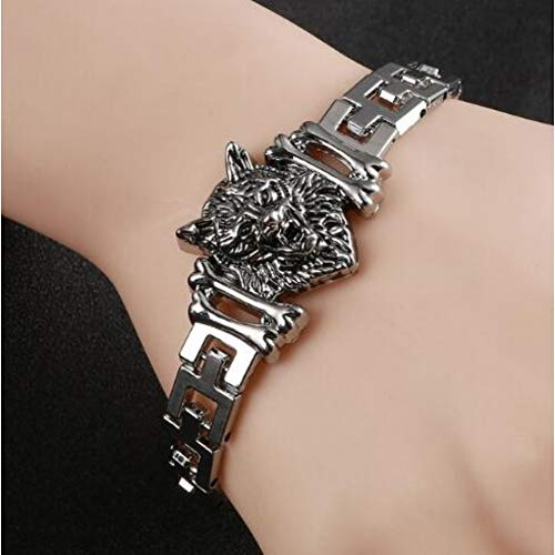 DMUEZW Tiener Wolf Hoofd Armband Indische Sieraden Mode Accessoires Viking Armband Mannen Polsband Manchet Armbanden Voor Vrouwen Bangles