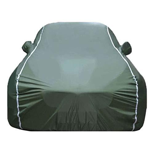 ZYuan Funda para Coche Compatible con BMW 7 Series Funda para Exterior para Coche Funda para vehículo Transpirable Resistente Aranazos con Tiras Rflectante (Color : Green, Size : 730LI)