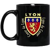Lyon Francia bandera francesa Viajero Mundial Patrimonio Francés taza 11 oz