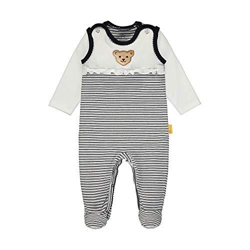 Steiff Baby-Mädchen Set Strampler + T-Shirt Langarm Bekleidungsset, Blau (Black Iris 3032), 50 (Herstellergröße: 050)