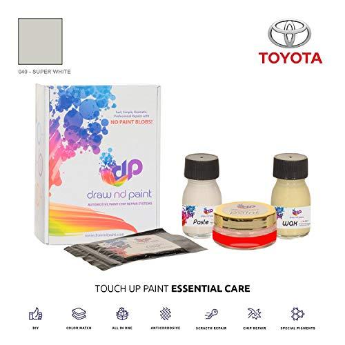 DrawndPaint for/Toyota Yaris Verso/Super White - 040 / Sistema di Vernice da RITOCCO - Corrispondenza ESATTA/Essential Care
