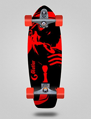 Glutier Surfskate with T12 Surf Skate Trucks Mafia Gansta 31 Red