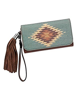 M&F Western Women's Zapotec Flap Wallet Brown One Size