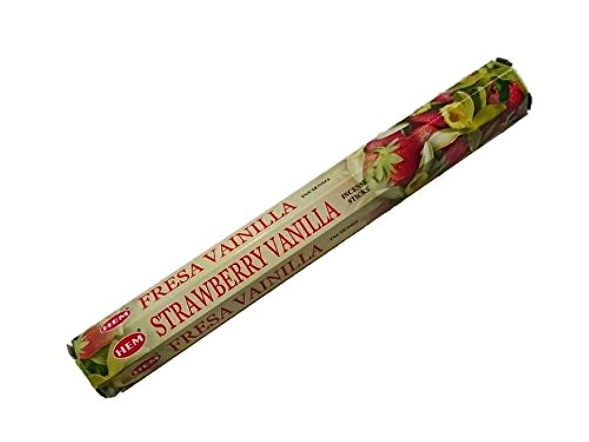 採用する比率バッジHEM(ヘム)お香:ストロベリーバニラ スティックお香/インセンス/1箱