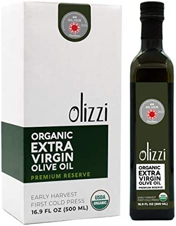 Olizzi Premium Organic Olive Oil Extra Virgin 2020 Award Winner Early Harvest First Cold Pressed product image