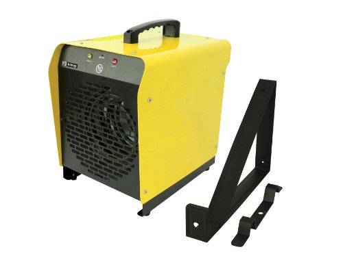 King Electric PSH2440TB 240-Volt, 4000-Watt Portable Garage Heater with Thermostat and Mounting Bracket