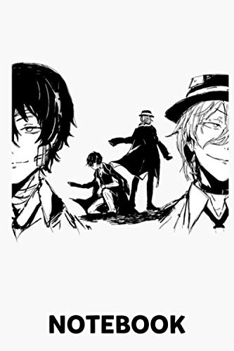 Bungou Stray Dogs Notebook: (110 Pages, Lined, 6 x 9)