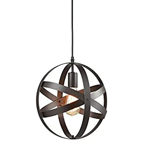 Truelite Industrial Metal Spherical Pendant Displa...