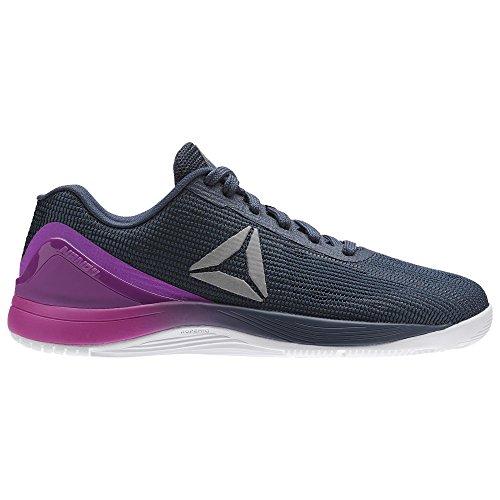 Reebok BS8759, Chaussures de Fitness Garçon, Violet/Blanc/argenté (Morado Vicious Violet Smoky Indigo White Silver), 19.5 EU