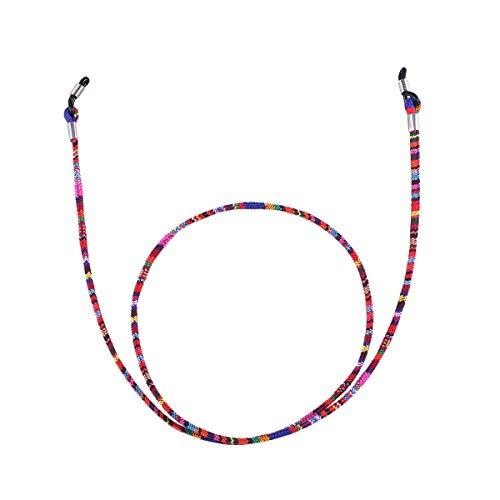 Fenical Brillenhalter-Kette aus Baumwolle, universelle Passform, rutschfeste Unisex-Sonnenbrillenschnur-Haltercords (buntes Lila)