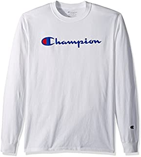 Champion Men's Classic Jersey Long Sleeve Script T-Shirt