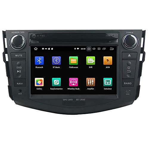 Jeu de DVD de Voiture ROADYAKO 2Din 7Inch Android 8.0 pour Toyota RAV4 2006 2007 2008 2009 2010 2011 2012 2012 avec Navigation GPS Lien WiFi Miroir RDS FM AM Bluetooth AUX Audio Vidéo