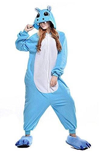 Pijamas de Hipopótamo Adultos Unisex Anime Animal Costume Cosplay Mono Pijamas Ropa de Dormir...
