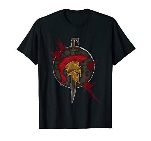 Spartaner Emblem - Tapferer Krieger aus Sparta T-Shirt