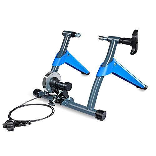 Wire-Controlled Reluctance Riding Platform Bicycle Trainer, Compact Folding Mute Elastic Force Scroll Wheel Strong Bearing Capacity, for Road and Mountain Bicycles