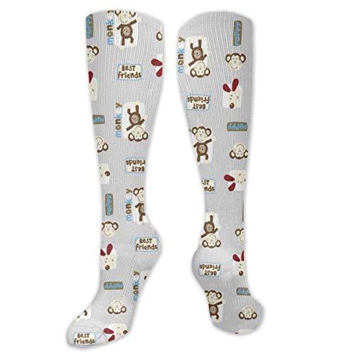 Inner-shop Bset Friend Fashion Bequeme und weiche Kompressionsstrümpfe für Männer und Frauen Advanced Moisture Wicking Crew Socken für Working Family Sports Dress oder Cosplay, Socken