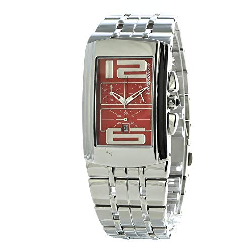Chronotech Unisex Erwachsene Analog Quarz Uhr mit Edelstahl Armband CT7018B-05M
