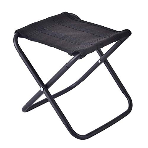 Tragbarer Stuhl Klappcampingsitze Wanderhocker Tragbarer Leichter Klappstuhl Outdoor Camping Angeln Barbecue Reisestuhl-Camouflage Klappstuhl (Farbe: Schwarz)