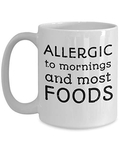 Grappig voedsel Allergie Bewustzijn Mok Voedsel Allergie Moeder Gift Cup Voedsel Humor Anafylaxie Zuivel Allergie Pindakaas Allergie Lactose Intolerantie
