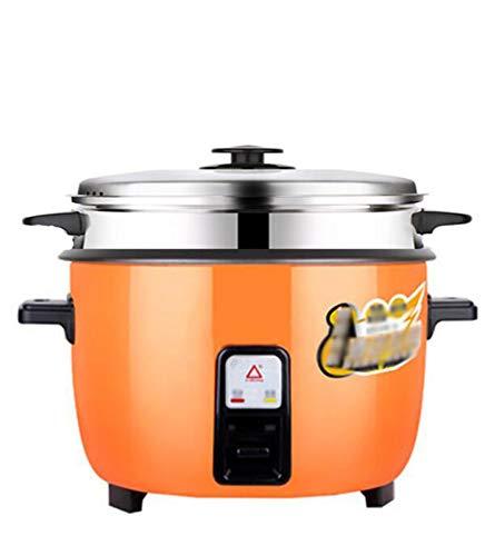 ZGJQ Cocina de arroz, Olla de cocción Lenta y Vapor de Alimentos  6 Litre-Mantenga la función cálida Premium Pot, espátula y Copa de medición Cocina de arroz de Gran Capacidad Comercial