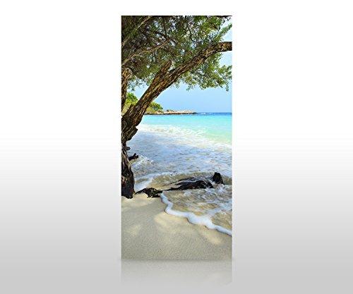 wandmotiv24 Duschrückwand Ruhiger und friedlicher Strand. Provinz Rayong 90 x 200cm (B x H) - Plexiglas 4mm Duschwand Design, Keine Fugen M0899