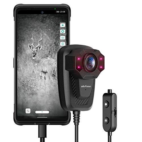 Ulefone USB Körperkamera mit Audio- & Infrarot-Nachtsicht, 1080P Full HD, tragbare Körperkameras, tragbarer Videorekorder, wasserdicht, Taschenclip-Außenkamera (für Android 7 Oben)